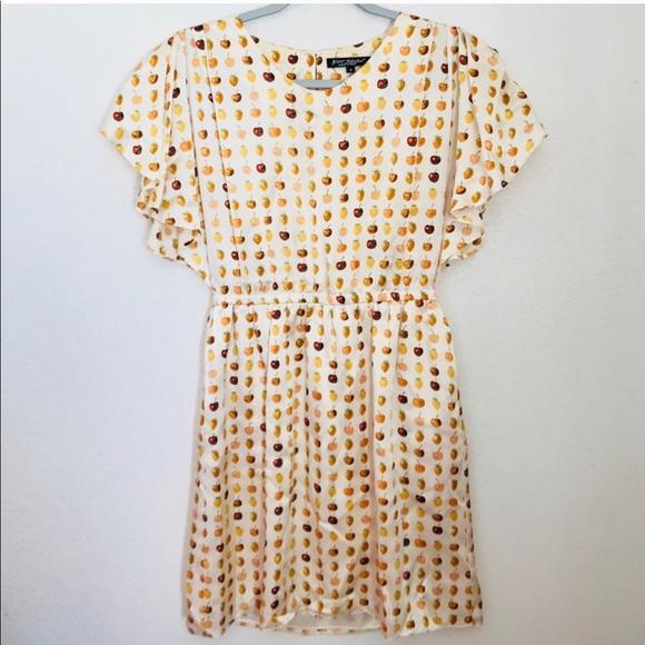 aa0b54d7a16 Betsey Johnson Silk Fruit Print Dress